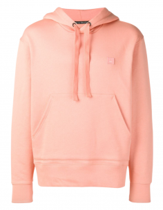 Pink unisex ACNE STUDIOS hoodie with Ferris Face smiley logo - SS21