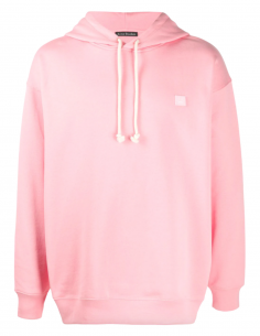 Candy pink unisex ACNE STUDIOS hoodie with Ferris Face smiley logo - SS21