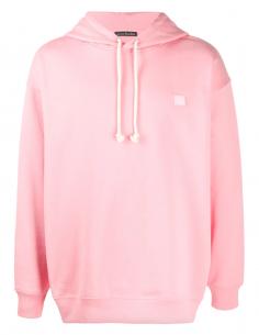 Sweatshirt à capuche rose bonbon ACNE STUDIOS mixte avec logo smiley Ferris Face - SS21