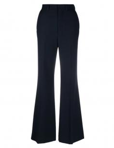Pantalon plissé évasé AMI PARIS bleu pour femme - SS21