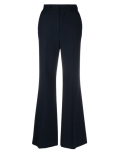 Blue AMI PARIS flared pleated pants for women - SS21