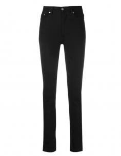 Pantalon jean slim noir taille haute AMI PARIS pour femme - SS21
