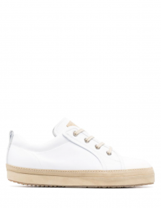 MAISON MARGIELA white bi-material sneakers with platform for men - SS21
