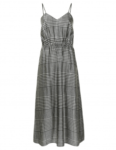 MM6 opened back dress with Prince of Wales print for women - SS21