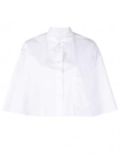 Chemisette MM6 blanche bas coupé franc pour femme - SS21