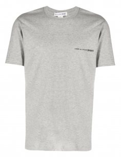 T-shirt COMME DES GARÇONS SHIRT gris pour homme avec logo poitrine - SS21