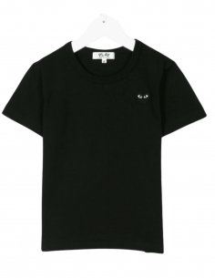 COMME DES GARÇONS PLAY KIDS black t-shirt for children with small heart - SS21