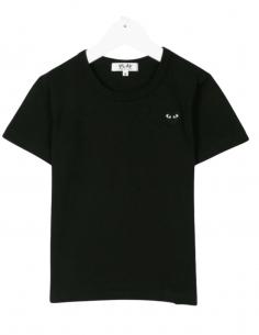 T-shirt COMME DES GARÇONS PLAY KIDS noir pour enfant petit coeur - SS21