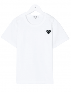 COMME DES GARÇONS PLAY KIDS white t-shirt for children with small heart - SS21