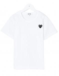 T-shirt COMME DES GARÇONS PLAY KIDS blanc pour enfant petit coeur - SS21