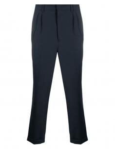 Pantalon carotte AMI PARIS bleu à plis pour homme - SS21