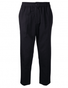 AMI PARIS pleated navy blue pants for men with elastic waist - SS21