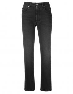 Jean gris AMI PARIS taille haute et coupe droite pour femme - SS21