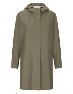 Manteau parka imperméable HARRIS WHARF kaki à capuche pour femme - SS21