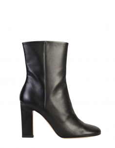 """WANDLER black """"Carly"""" heeled boots with round toe for women - SS21"""