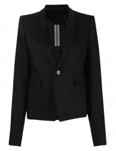 Veste blazer RICK OWENS noir 1 bouton pour femme - SS21