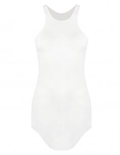 Débardeur long et fluide RICK OWENS côtelé blanc pour femme - SS21
