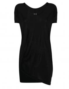 T-shirt fluide RICK OWENS coupe longue oversize noir pour femme - SS21
