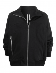 Black jacket RICK OWENS zipped with high collar for men - SS21