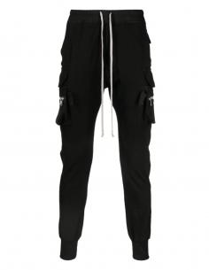 RICK OWENS black multi-pocket cargo pants for men - SS21