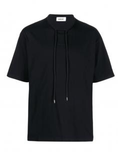 T-shirt AMBUSH noir avec cordons et petit logo pour homme - SS21