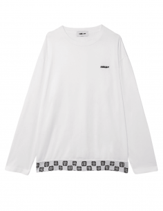 White long-sleeved AMBUSH t-shirt with emblem and logo for men - SS21