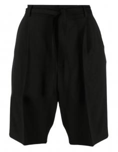 Short bermuda AMBUSH noir avec lien de serrage pour homme - SS21