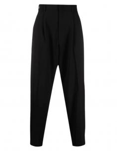 Black straight cut AMBUSH pleated pants for men - SS1