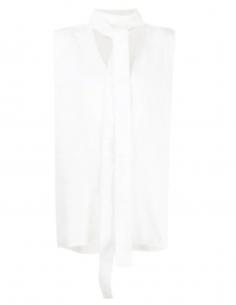 AMBUSH ecru lavallière sleeveless kimono top for women - SS21