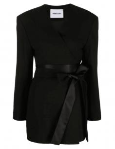 Veste AMBUSH kimono noire cache-coeur pour femme - SS21