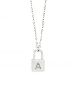 """Collier AMBUSH mini """"Lock"""" en argent pour femme - SS21"""
