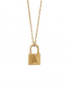 """Collier AMBUSH mini """"Lock"""" en or pour femme - SS21"""