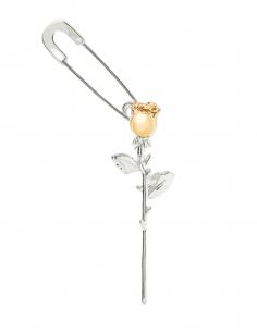 "Bicolor AMBUSH ""Rose Charm"" single earring in silver - SS21"