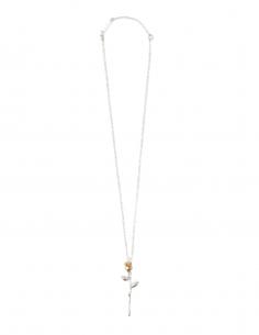 """Collier AMBUSH """"Rose Charm"""" bicolore en argent - SS21"""