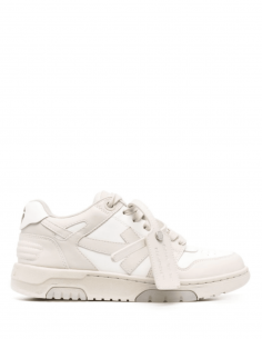 """Baskets mixte OFF-WHITE """"Ooo"""" bicolore beiges et blanches - SS21"""