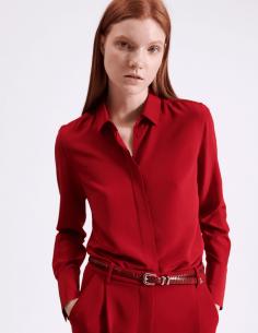chemise en soie rouge barbara bui été 2021