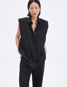 chemise noire sans manches barbara bui