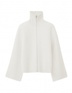 TOTÊME ecru cashmere zipped cardigan for women - SS21