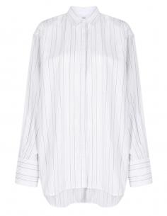 TOTÊME long white striped shirt for women - SS21