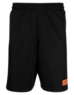 HERON PRESTON black basketball shorts with logo for men - SS21