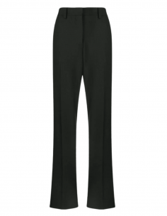 OFF-WHITE black high waist pants with satin bands for women - SS21