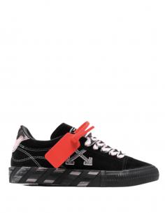 Baskets mixtes OFF-WHITE en cuir tie and dye rose et noir - SS21