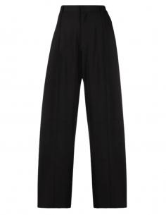 Pantalon ample AMBUSH noir taille haute pour femme - SS21
