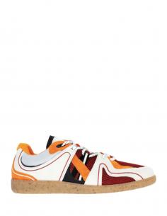 Baskets basses tricolor GANNI sporty retro oranges pour femme - SS21