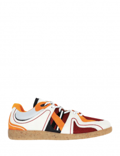 Orange tricolor GANNI sporty retro low trainers for women - SS21