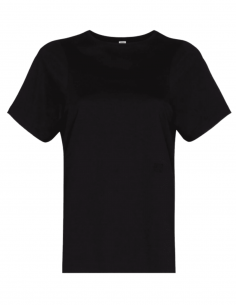 TOTÊME black t-shirt with logo for women - SS21