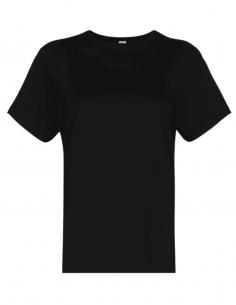 T-shirt TOTÊME noir avec logo pour femme - SS21