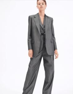Longue veste de blazer grise barbara bui