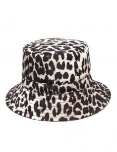 GANNI wide edges leopard print bob for women - SS21