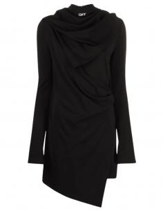 Robe courte OFF-WHITE cache-coeur noire avec masque bandana - SS21